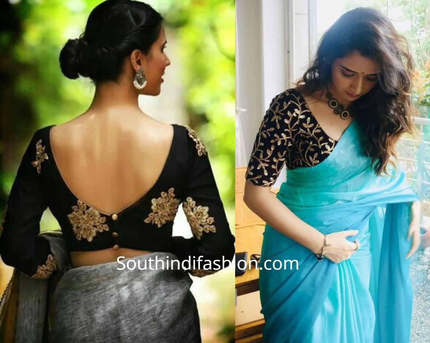 Stylish Velvet Saree Blouses (2)