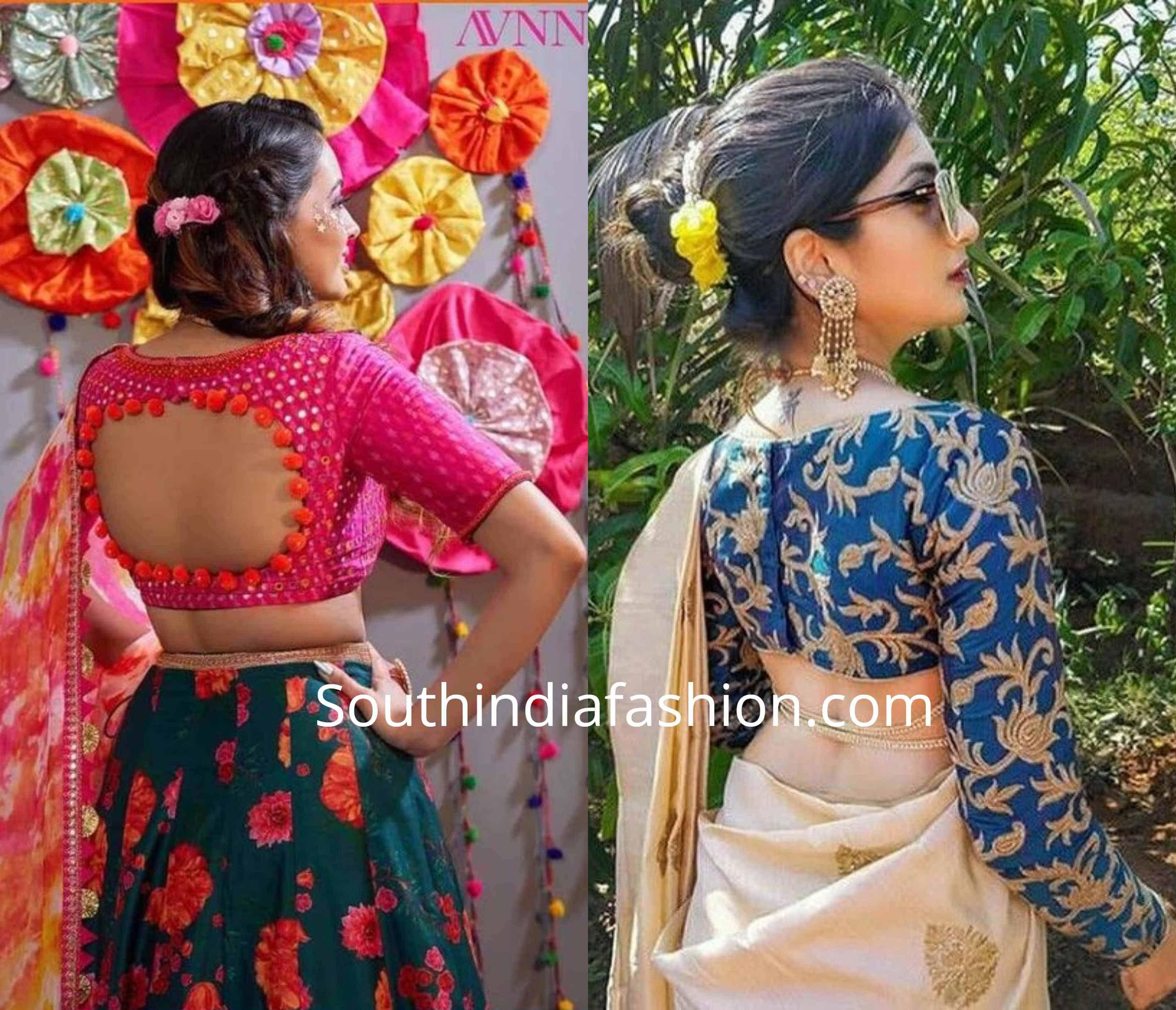 Trendy Cut Out Blouse Designs (2)