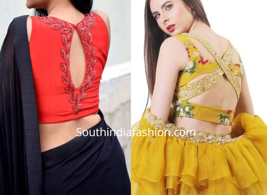 Trendy Cut Out Blouse Designs 3