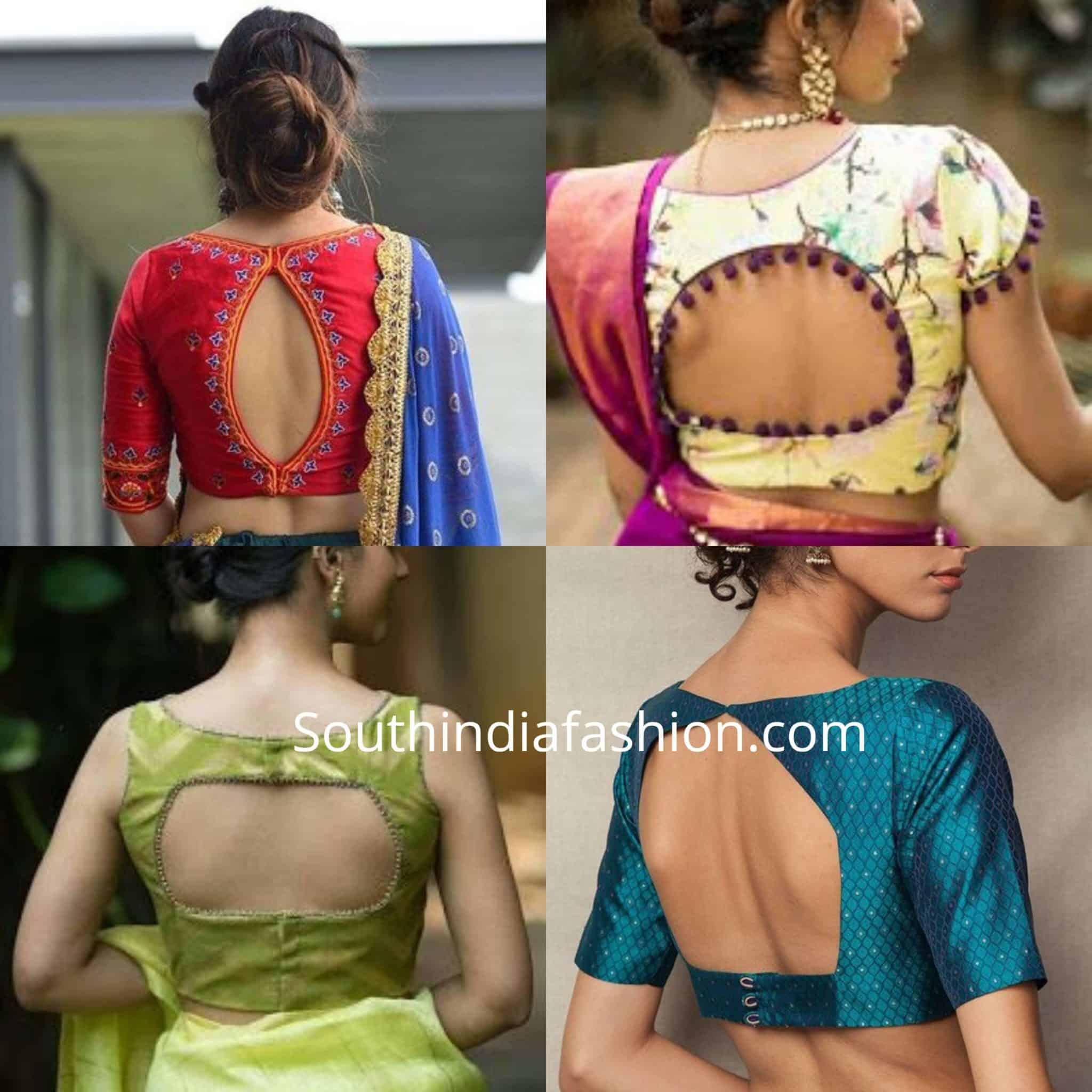 Trendy Cut Out Blouse Designs (4)
