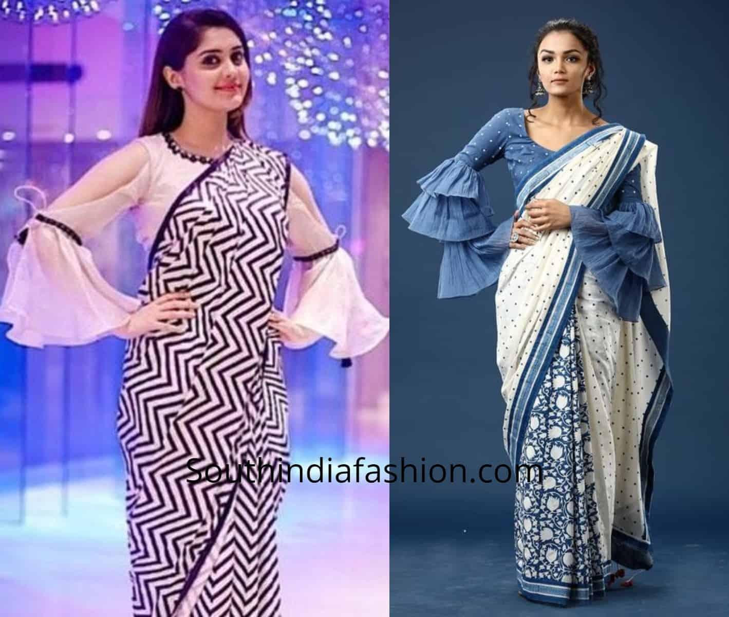 Trendy Sleeves Saree Blouses (3)