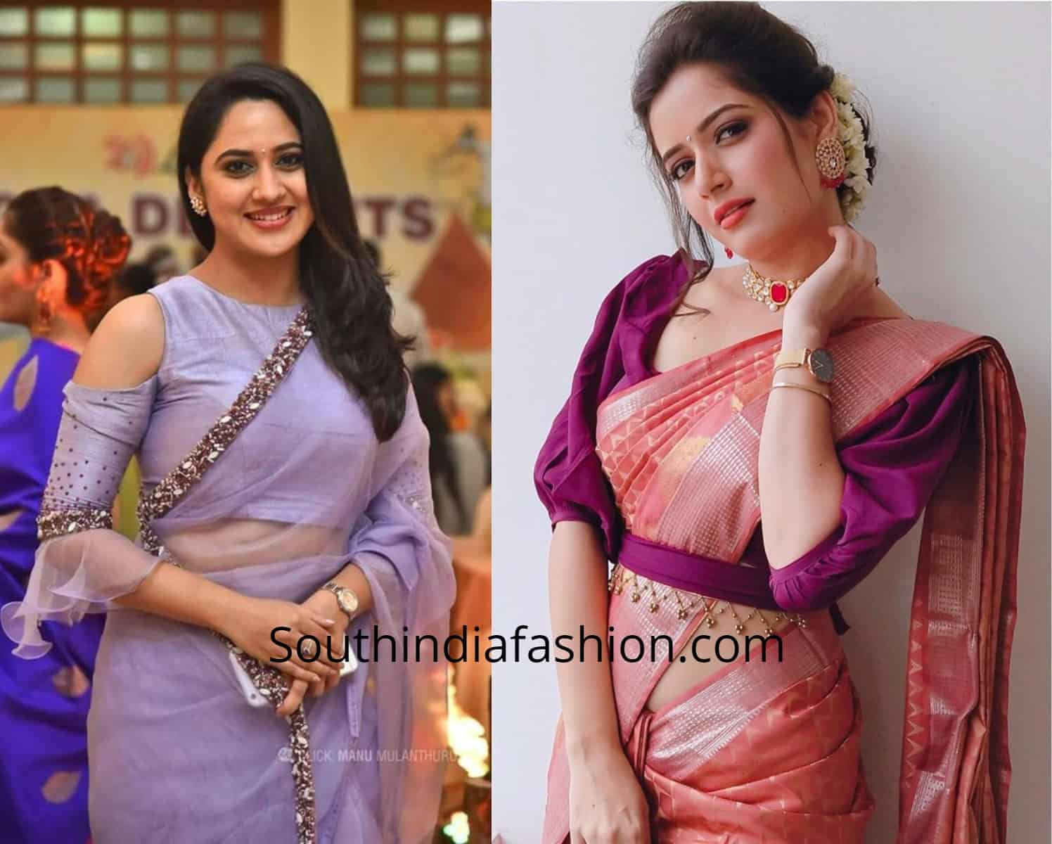 Trendy Sleeves Saree Blouses