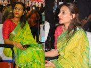 aishwarya dhanush linen saree