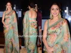 anushka sharma in sabyasachi saree floral organza saree