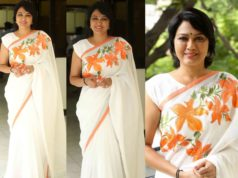 hema white saree