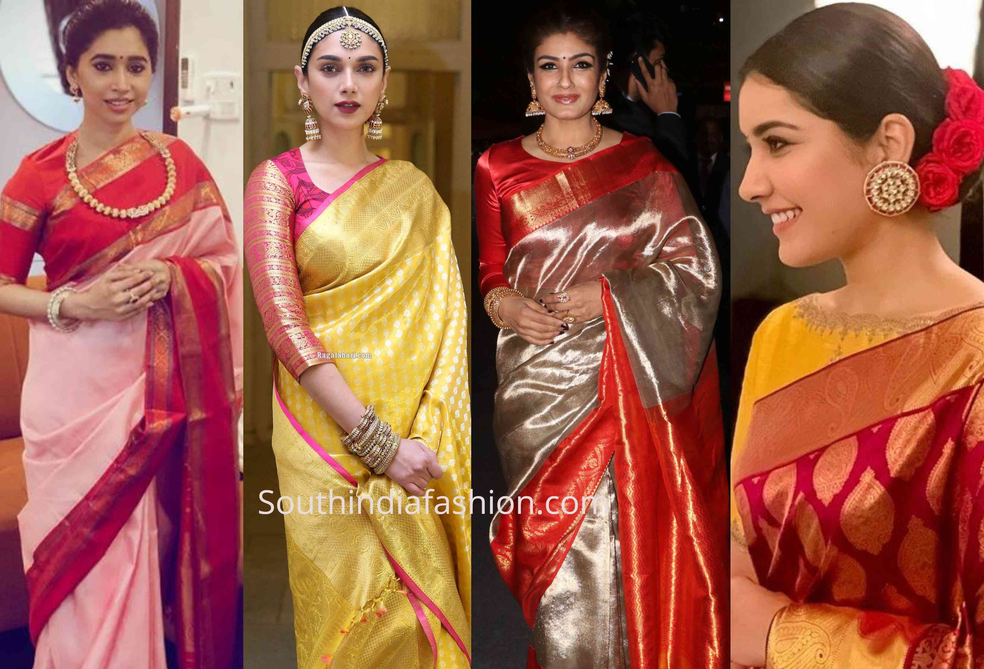 how to style silk sarees