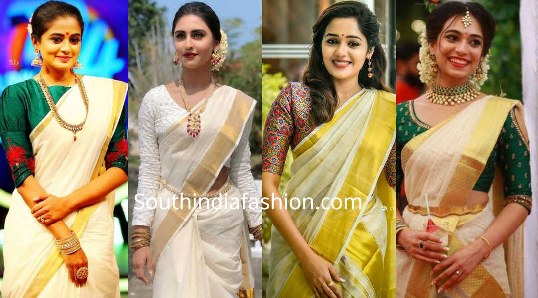kerala saree blouse designs