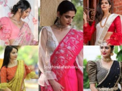 latest sleeves designs for saree blouses 2019
