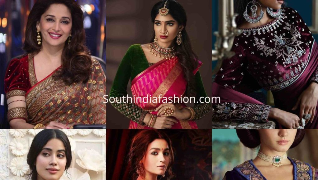 velvet saree blouse designs (6)