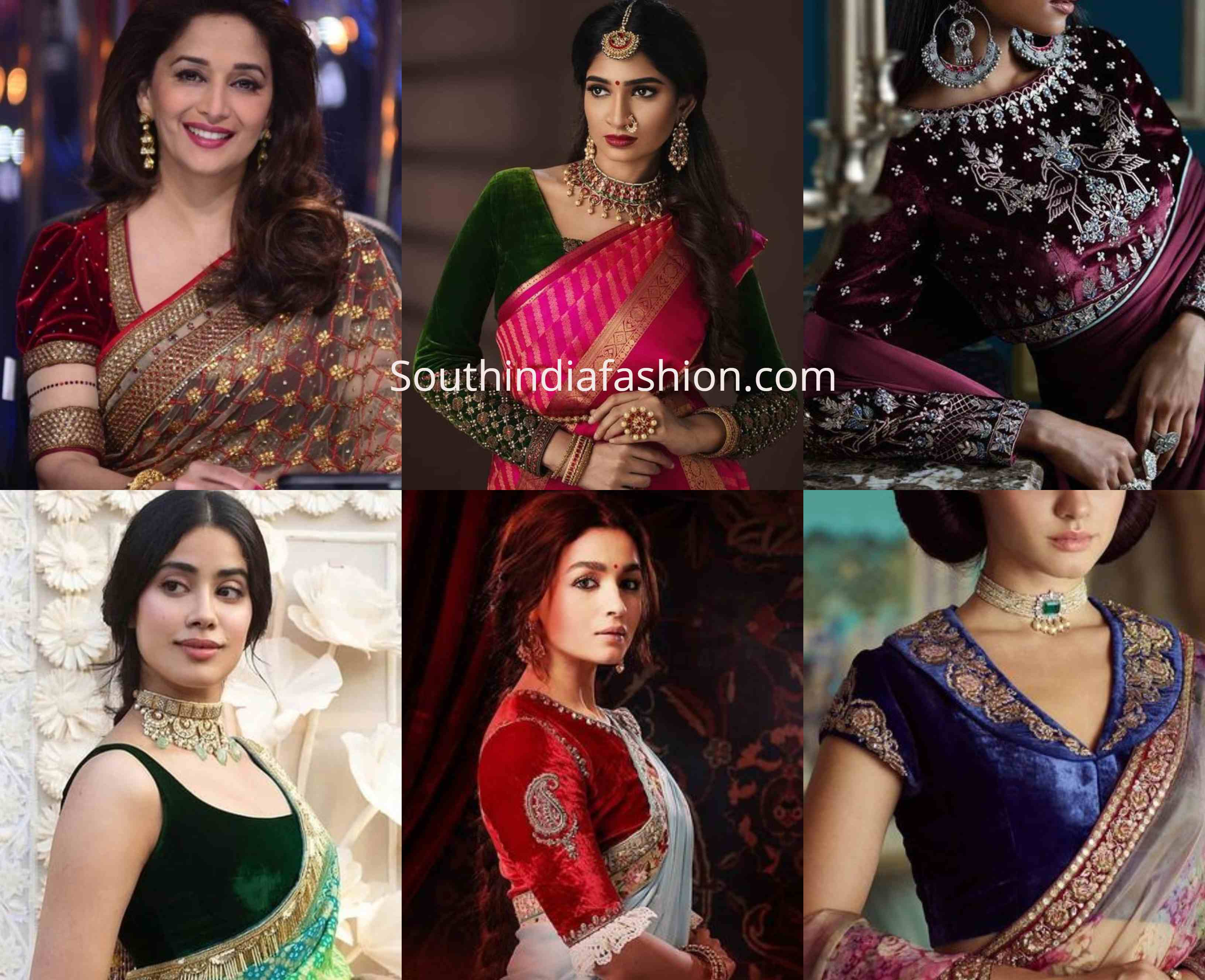 Add A Royal Touch To Your Sarees With Velvet Blouses