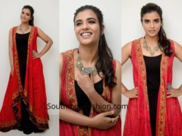 Aishwarya Rajesh in Label Ritu Kumar for India Retail Excellence Awards