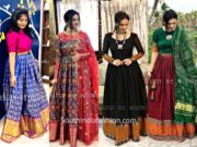 Anarkalis and dresses from old silk sarees by Blush by Mounika