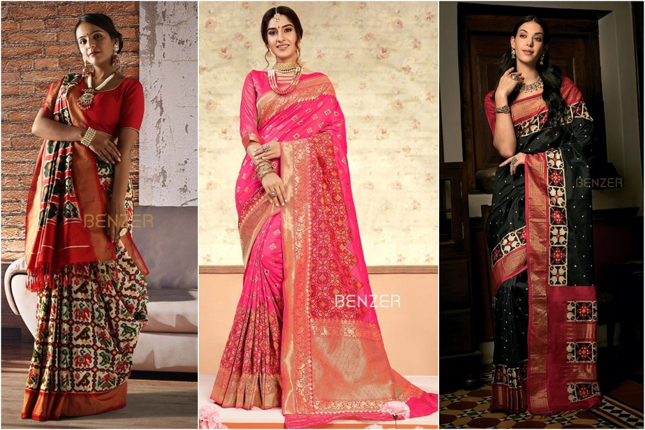 Shop for beautiful Patola Silk Sarees from these amazing brands