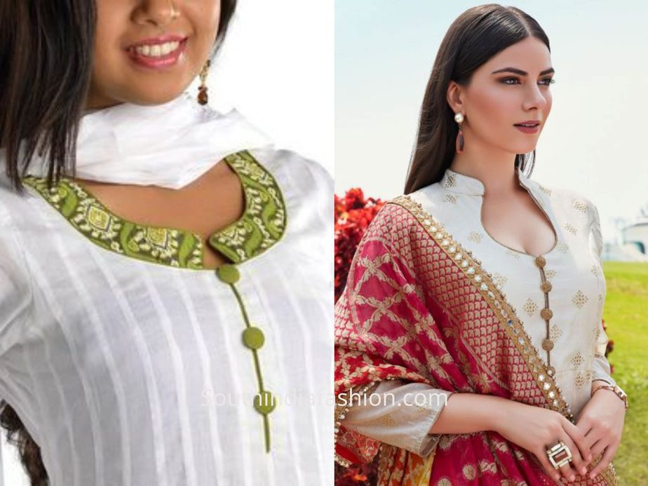 Simple And Trendy Churidar Neck Designs To Take Inspiration From Vshop4u