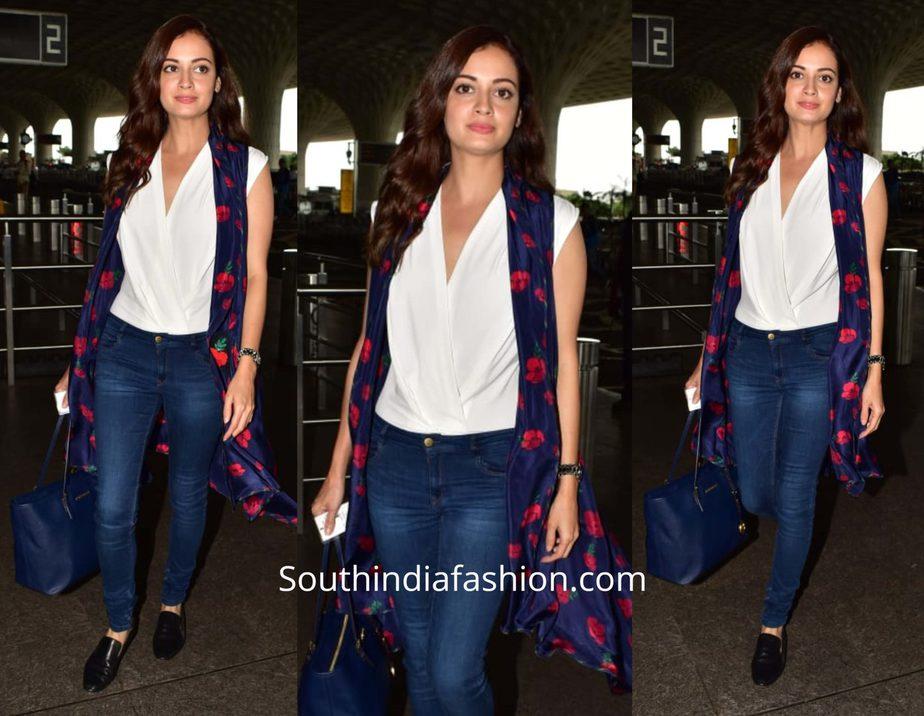 Dia Mirza's stylish airport look