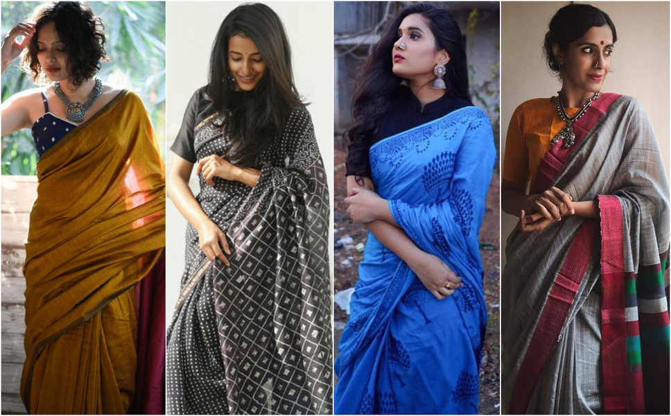Indian Labels with Fabulous Linen and Cotton Saree Collection