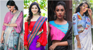 Indo-Western Saree Blouse Designs