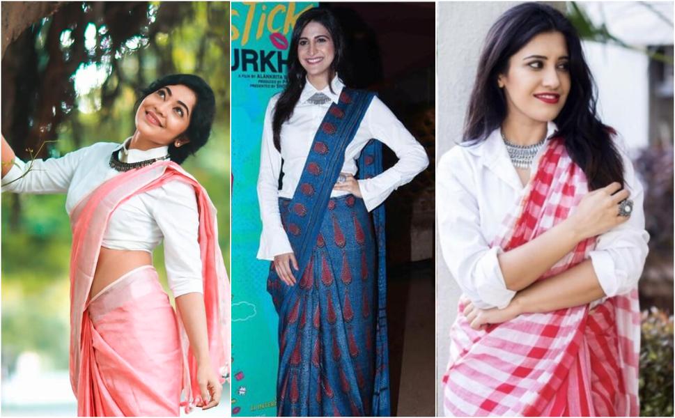 Indo-Western Saree Blouse Designs