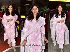 Janhvi Kapoor in a salwar suit at the airport