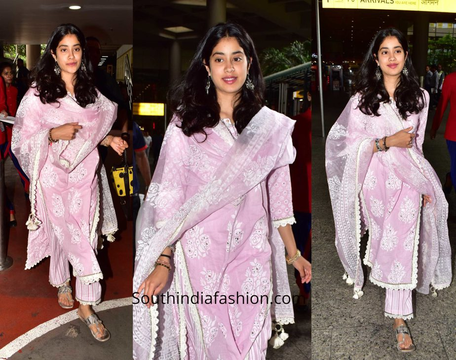 Janhvi Kapoor in a salwar suit at the airport