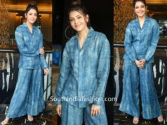 Kajal Aggarwal in co-ords at Ranarangan Interview