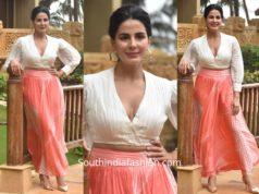 Kirti Kulhari in Vedika M for Mission Mangal Promotions