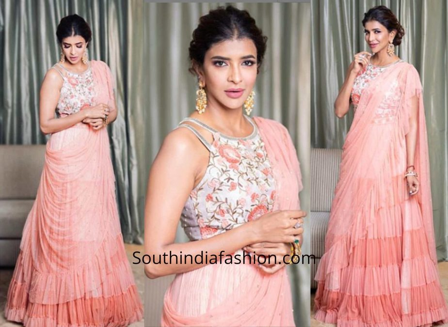 Lakshmi Manchu in a lehenga by Yashodhara for a traditional function