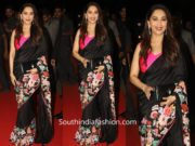 Madhuri Dixit in Aisha Rao saree for Hum Aapke Hain Kaun 25th anniversary celebrations