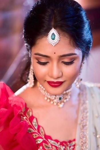 Maneesh katam engagement makeup