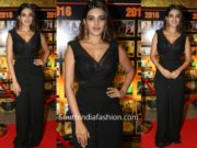 Nidhhi Agerwal in a black outfit at Sakshi Excellence Awards 2019