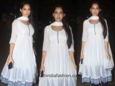 Nora Fatehi in Biba Anarkali at the airport