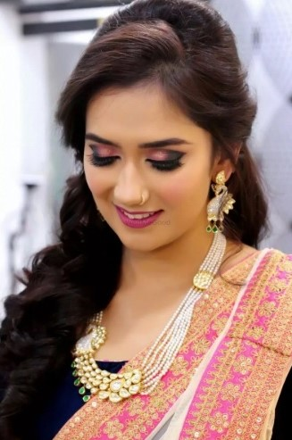 Sara khan makeup artist hyderabad
