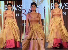Shamita Shetty in a gown at Swarovski Gems Fashion Show