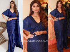 Shilpa Shetty in a Shilpi Gupta Couture saree