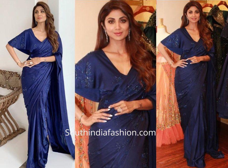 Shilpa Shetty in a Shilpi Gupta Couture saree