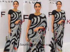 Sobhita Dhulipala in Satya Paul at their new collection launch