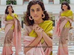 Taapsee Pannu in Latha Puttana saree