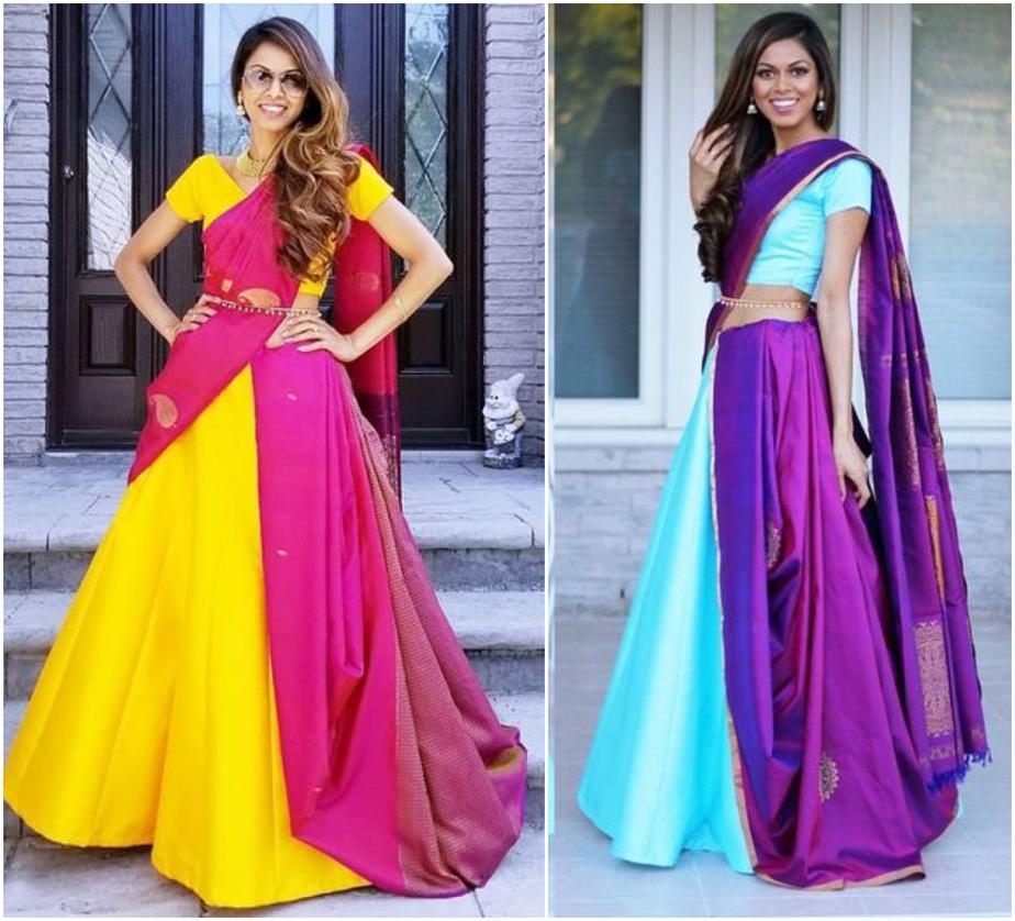 Tia Bhuva Inspired 7 Ways to Drape Saree Off-Beat Styles
