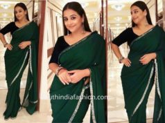 Vidya Balan in Manish Malhotra for Mission Mangal Promotions
