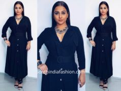 Vidya Balan in Zara and AMPM Fashions for Mission Mangal Promotions