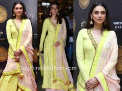 aditi rao hydari yellow anarkali tuglaq darbar movie launch