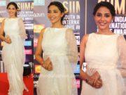 aishwarya lekshmi white saree at siima awards 2019
