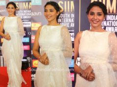 aishwarya lekshmi white saree at siima awards 2019
