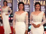aishwarya rajesh white gown siima awards 2019
