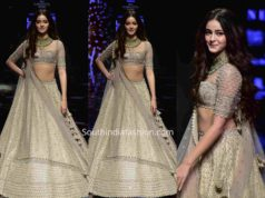 ananya pandey anushree reddy lehenga lakme fashion week 2019