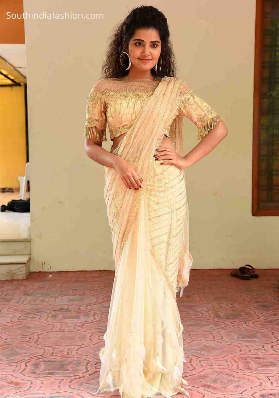 anupama parameswaran saree rakshasudu press meet