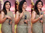 anusree nair saree at red fm music awards 2019