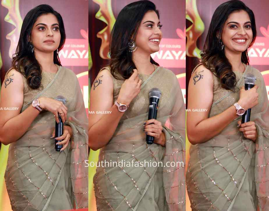 anusree nair saree at red fm music awards 2019