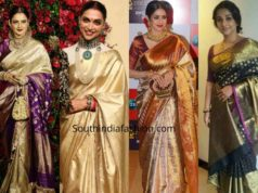 celebrities kanjivaram sarees