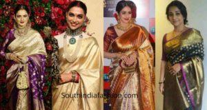 celebrities kanjivaram sarees